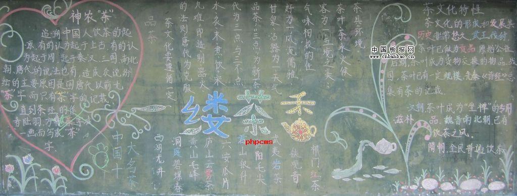 中国茶文化黑板报设计图