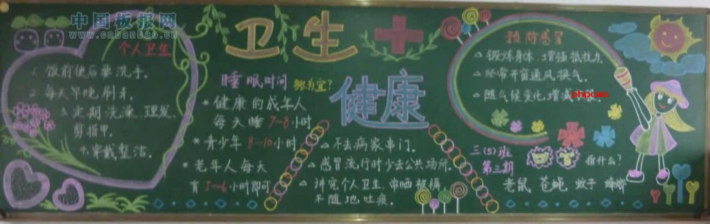 小学生卫生与健康黑板报