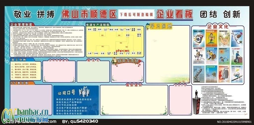 企业板报设计模板