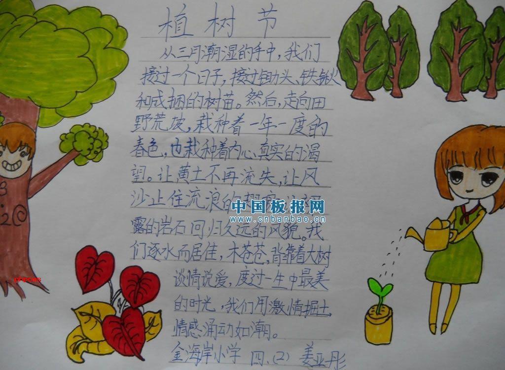 >> 文章内容 >> 四年级植树节手抄报图片  某校3,4年级学生共植树300
