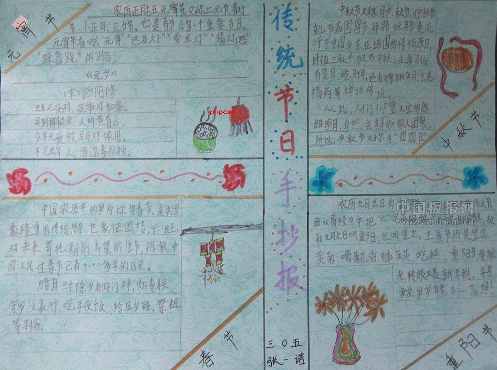传统文化节日手抄报图片展