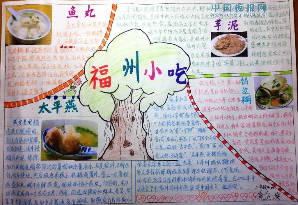 福州小吃及民俗手抄报