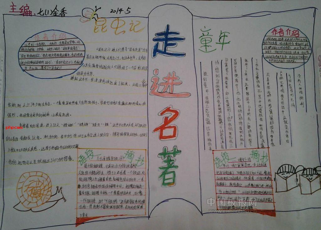 中学语文名著手抄报大全图片