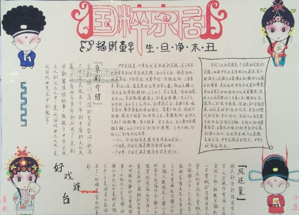 京剧脸谱手抄报图片
