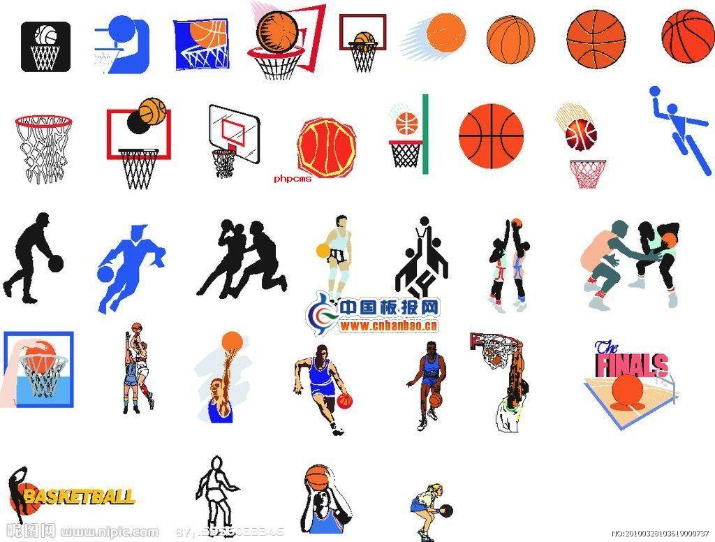 篮球手抄报插图大全