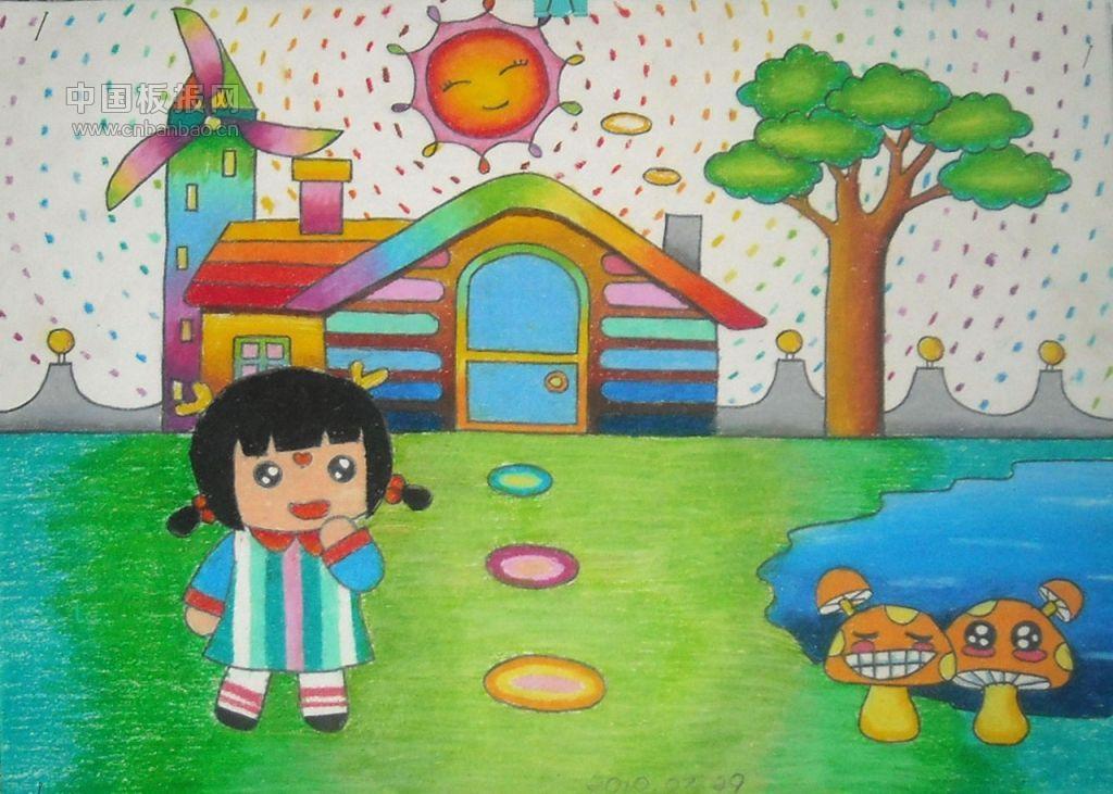 最简单的房子怎么画_小学生房屋绘画图片展