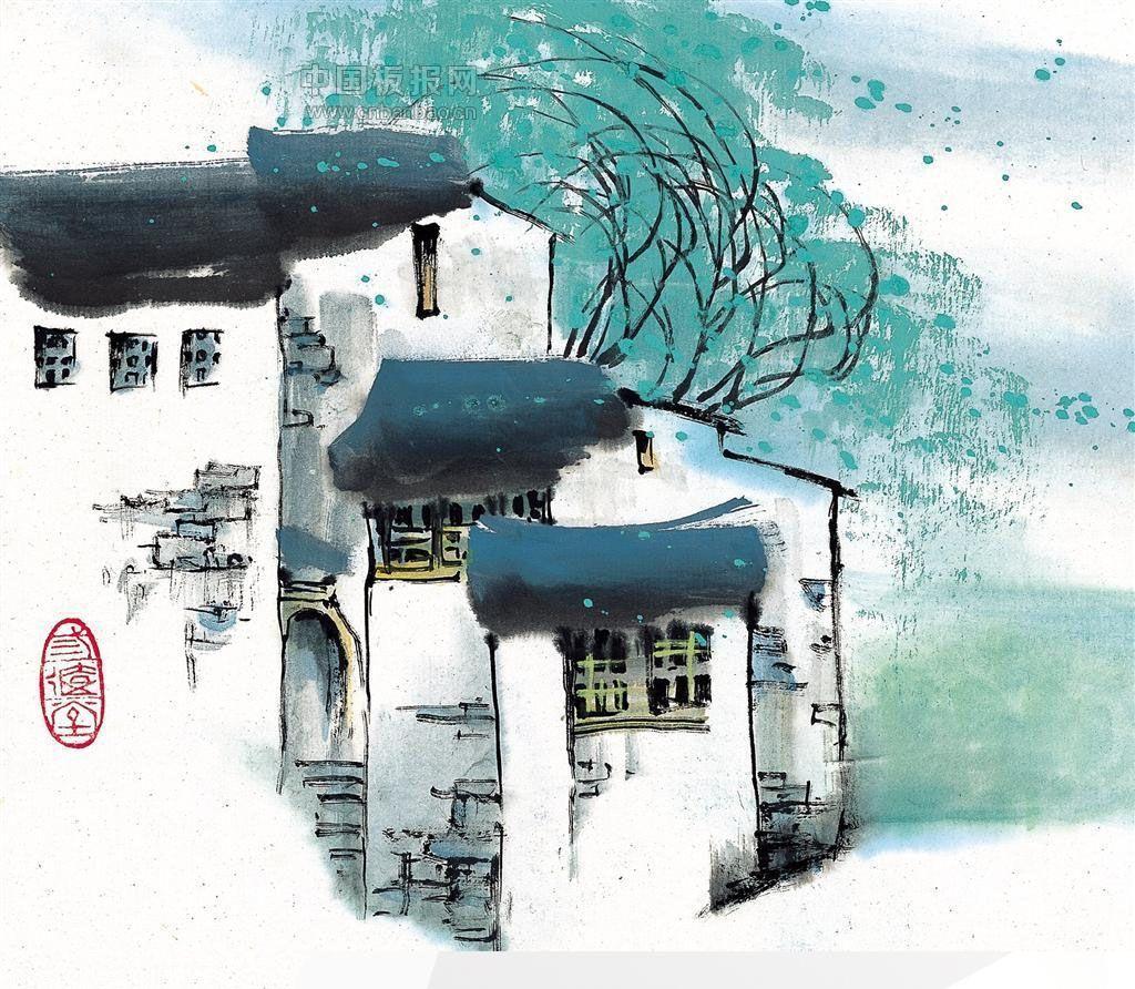 美轮美奂的房子油画
