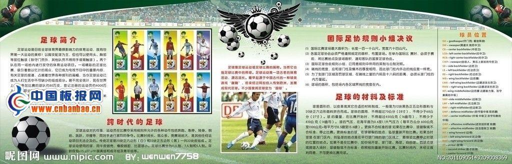 足球板报设计图
