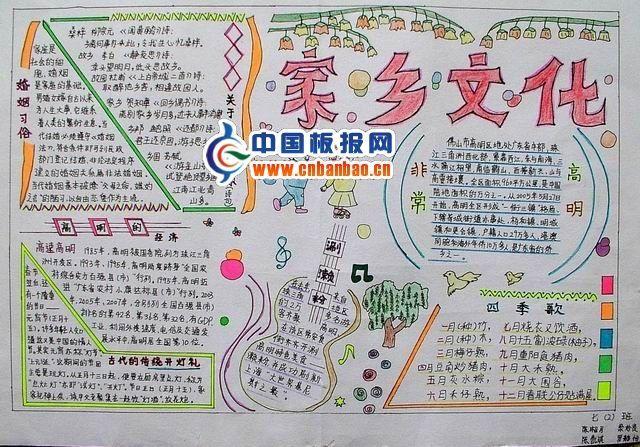 家乡变化手抄报 为了丰富同学们的校园文化生活,尽情展示我校学生的