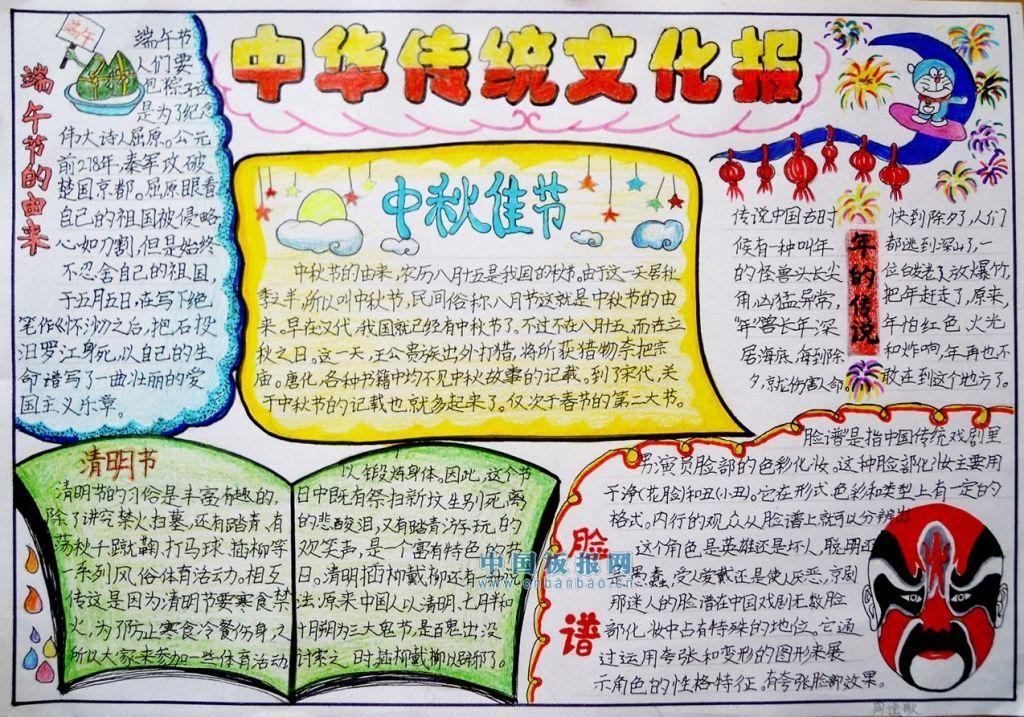 中华传统文化小报图片