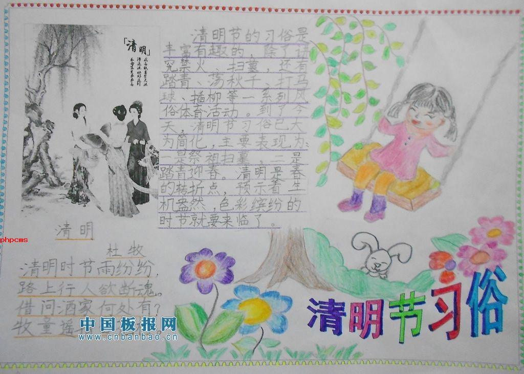 清明节习俗手抄报图片