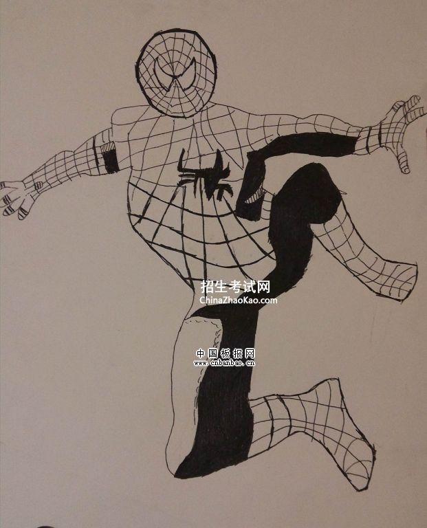 蜘蛛侠手绘图片