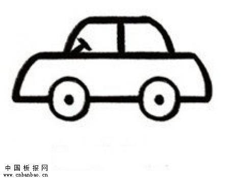 小汽车简笔画欣赏