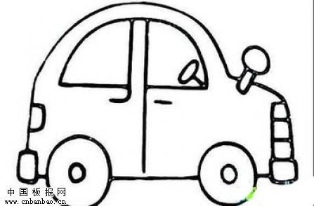 小汽车简笔画大全