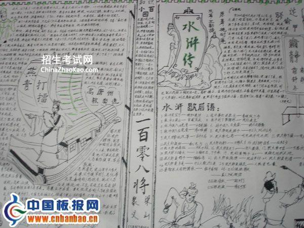 中学生水浒传手抄报