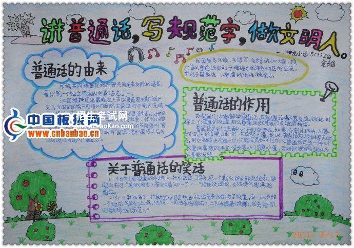 讲普通话写规范字做文明人手抄报图片