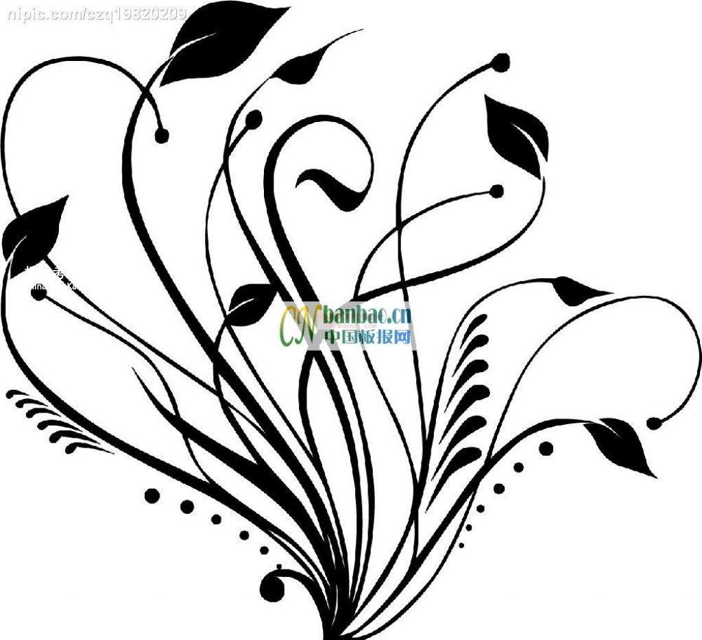 简易好画的花边插图一组