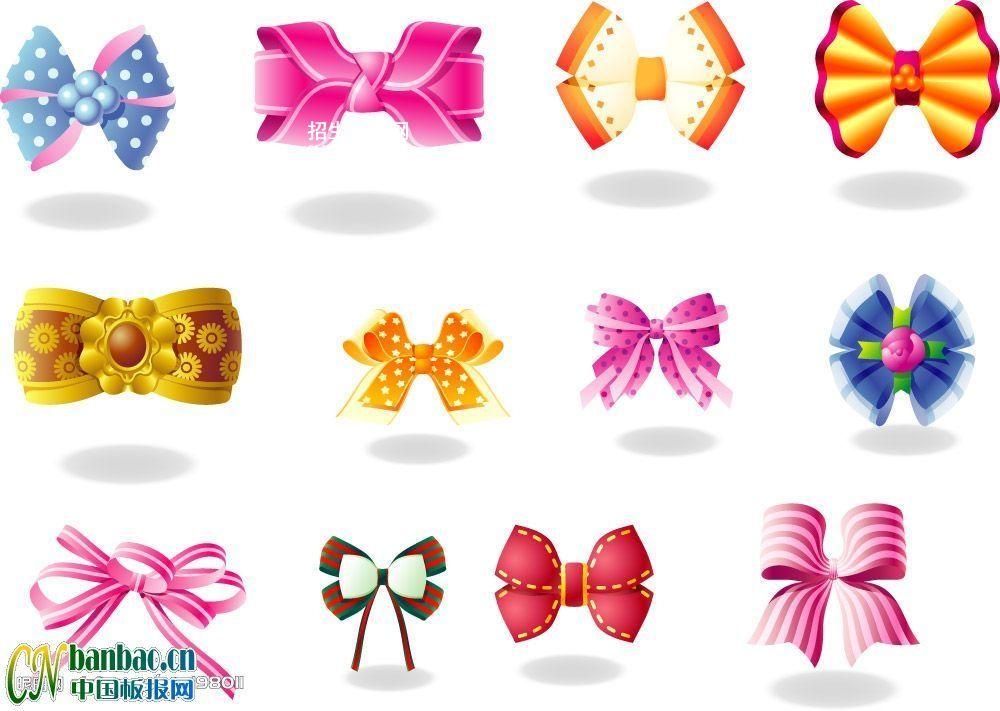 12种日常用蝴蝶结插图画法