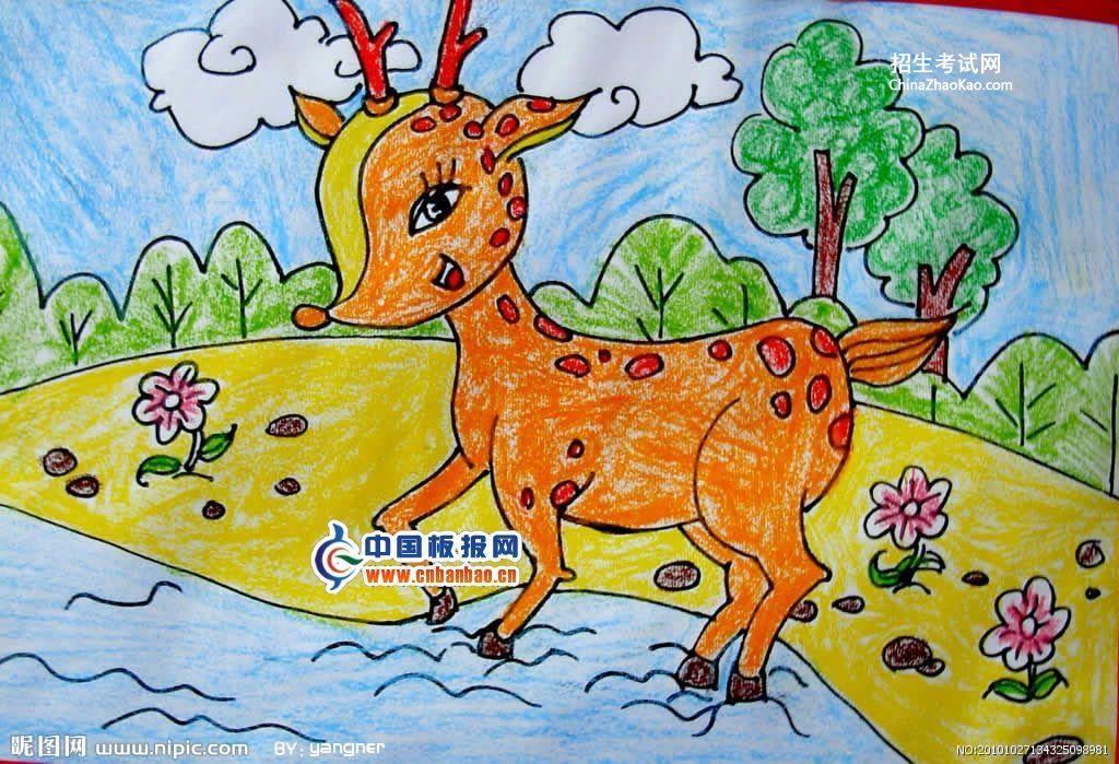 儿童画秋天的图画