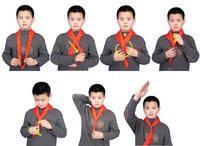 红领巾的起源及红领巾在中国、红领巾规格及接法