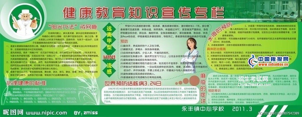 健康教育知识宣传板报