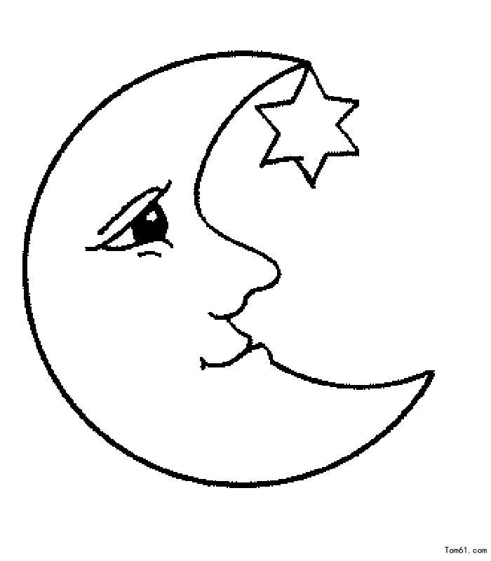 月亮的简笔画