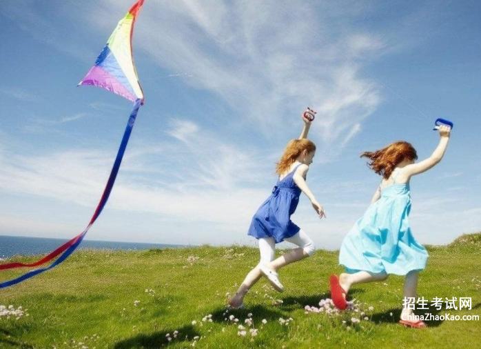 春天放风筝的话