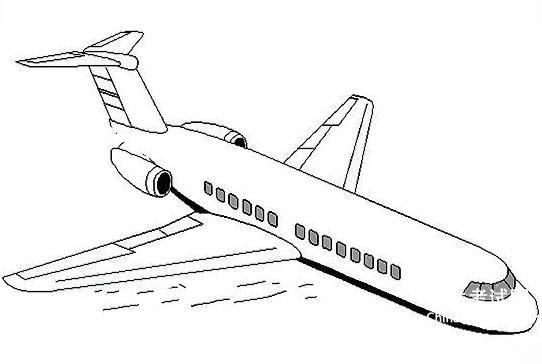飞机简笔画 飞机