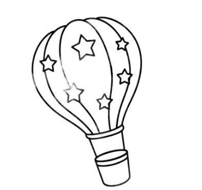 聚聚散散热气球简笔画_热气球简笔画