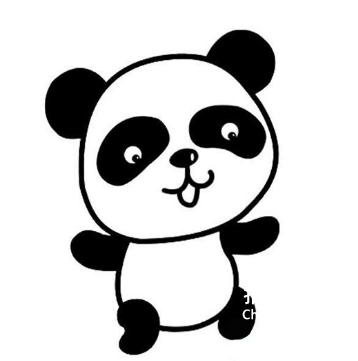 [蔬菜的简笔画]熊猫的简笔画