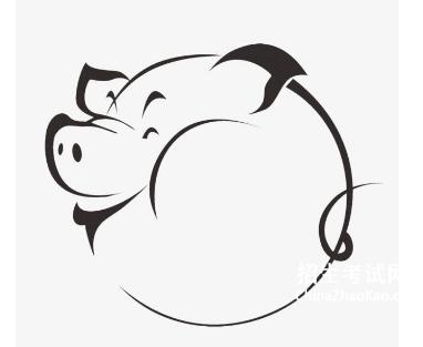 【猪的简笔画图片大全】猪的简笔画