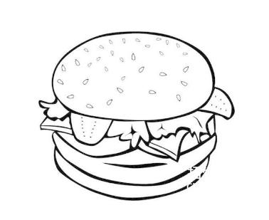 【快餐简笔画图片大全集】快餐简笔画
