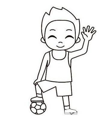 【男孩简笔画图片大全】男孩简笔画