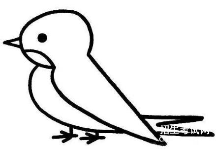 [�欧珞� 简笔画]燕子的简笔画