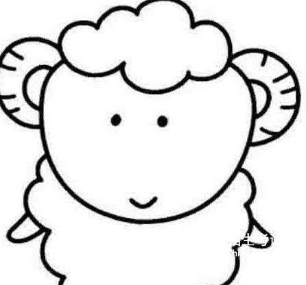 小羊简笔画