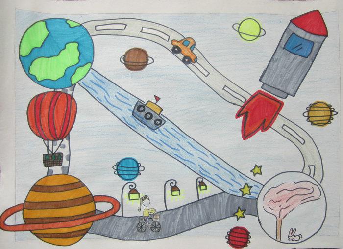 适合中班幼儿绘画图片_中班幼儿绘画图片大全太空人