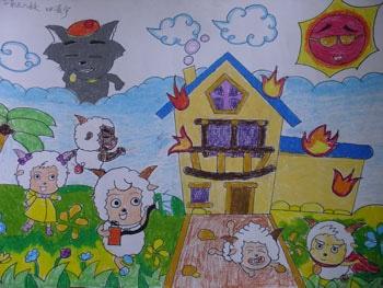 【儿童消防安全的绘画图片欣赏】儿童消防安全的绘画